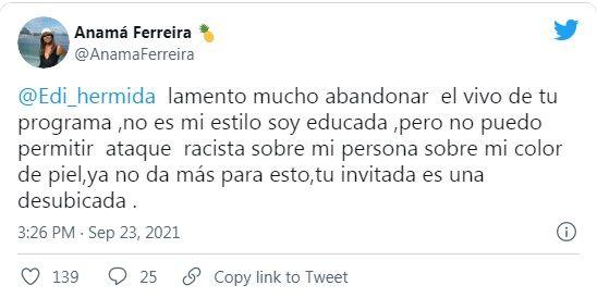 twits Anamá Ferreira