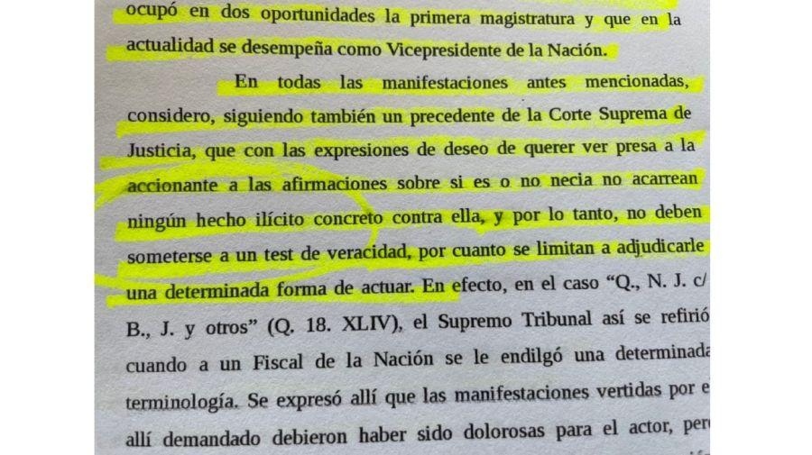 Causa Cristina Fernandez de Kirchner contra Eduardo Feinmann