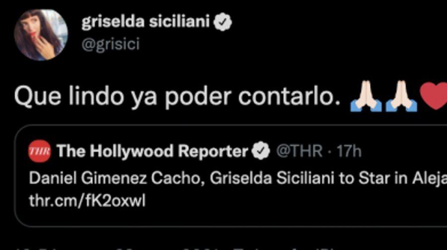 GriseldaSicilianireveló que será protagonista de un proyecto internacional