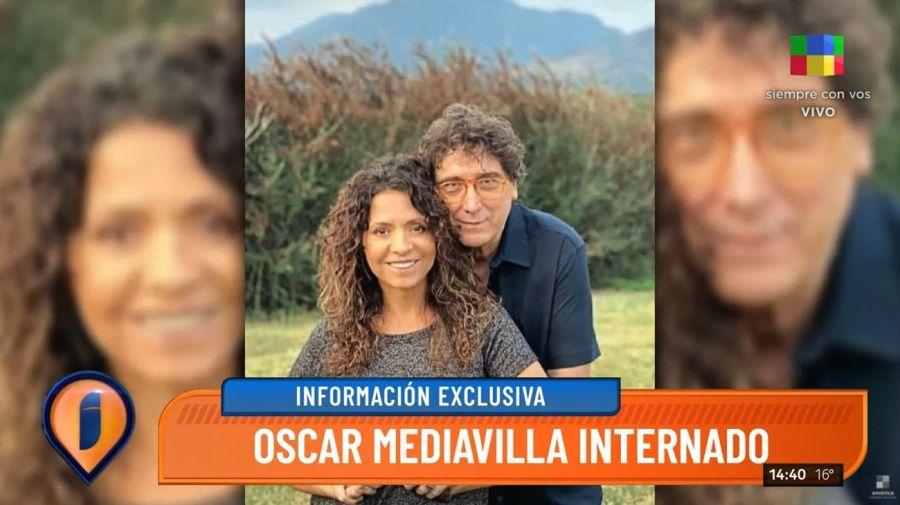 Oscar Mediavilla internado