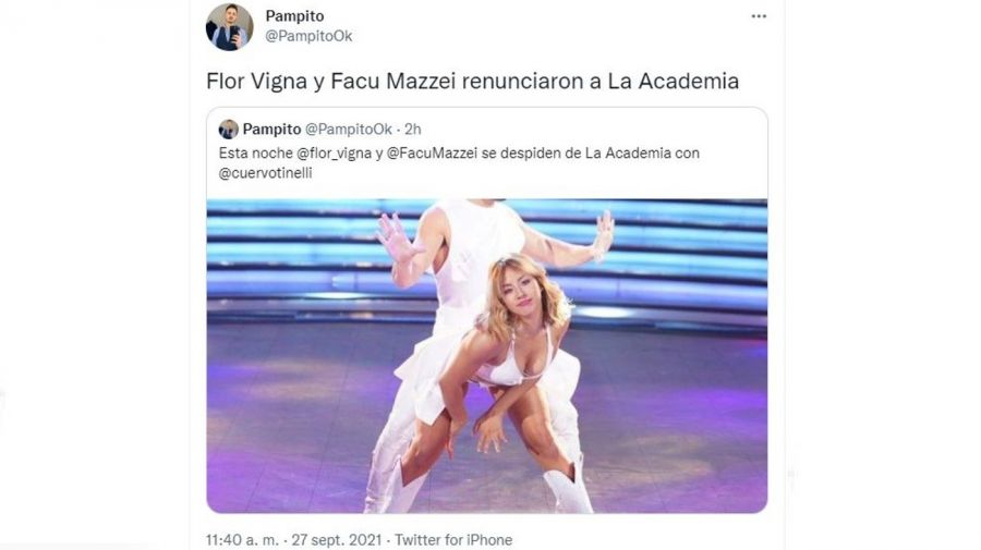 Renuncia Flor Vigna y Facu Mazzei
