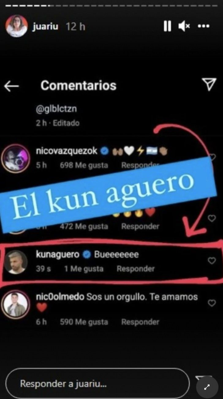 El comentario que le hizo el KunAgüero a Lali Espósito y luego eliminó