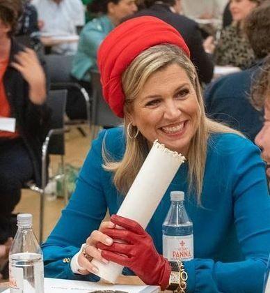 Máxima de Holanda: Su arriesgada y colorida combinación fashion