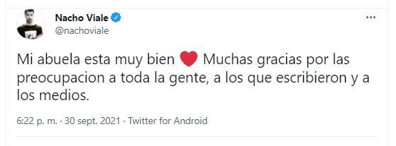 Caras   Nacho Viale habló de la salud de Mirtha Legrand y brindó un parte  médico