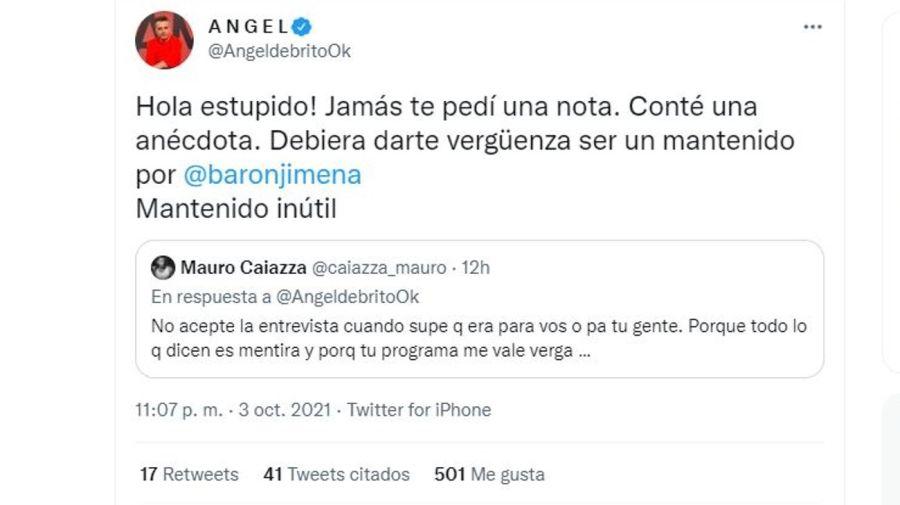 Cruce Angel de Brito y Mauro Caiazza