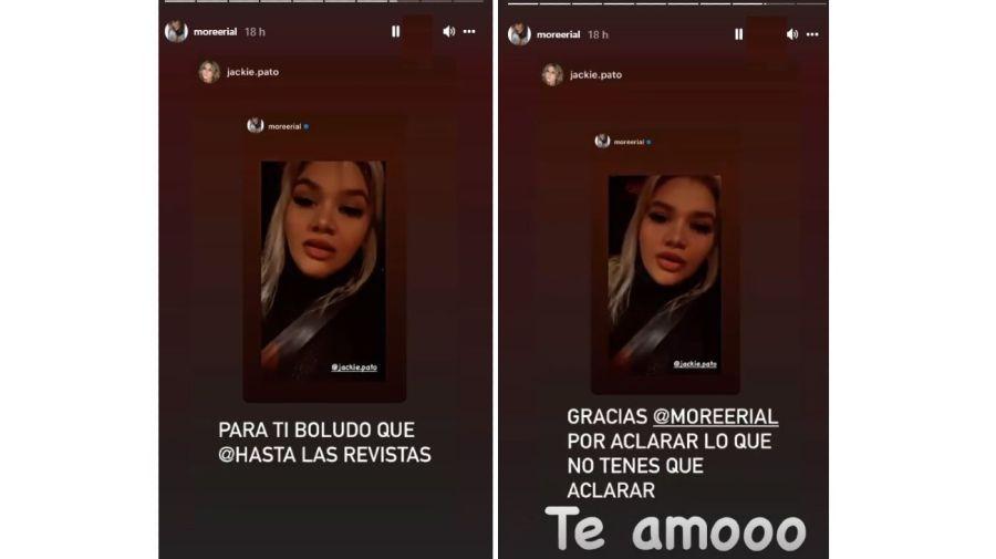 Jackie Pato mensaje a Morena Rial