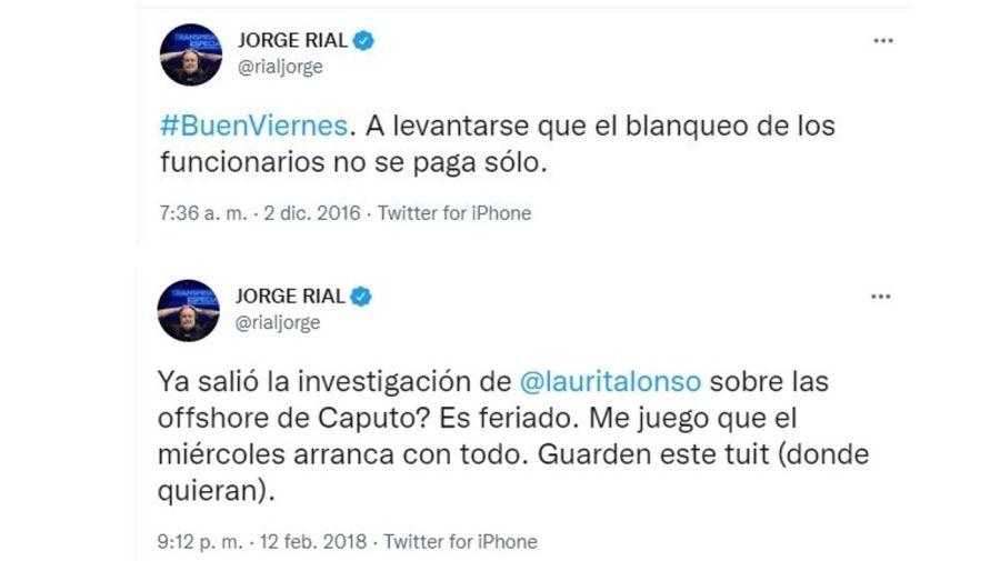 Jorge Rial mensaje offshore