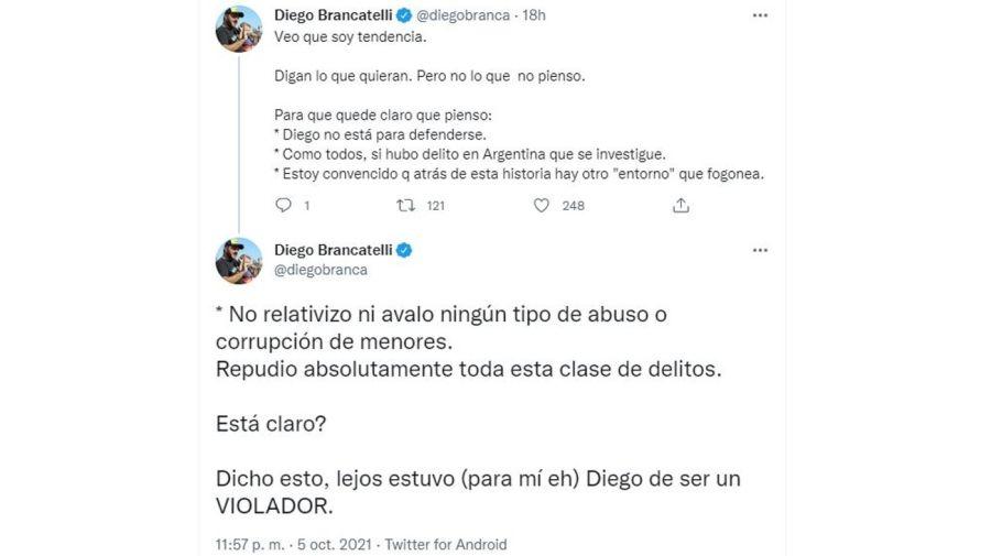Mensaje Diego Brancatelli por Mavys Alvarez