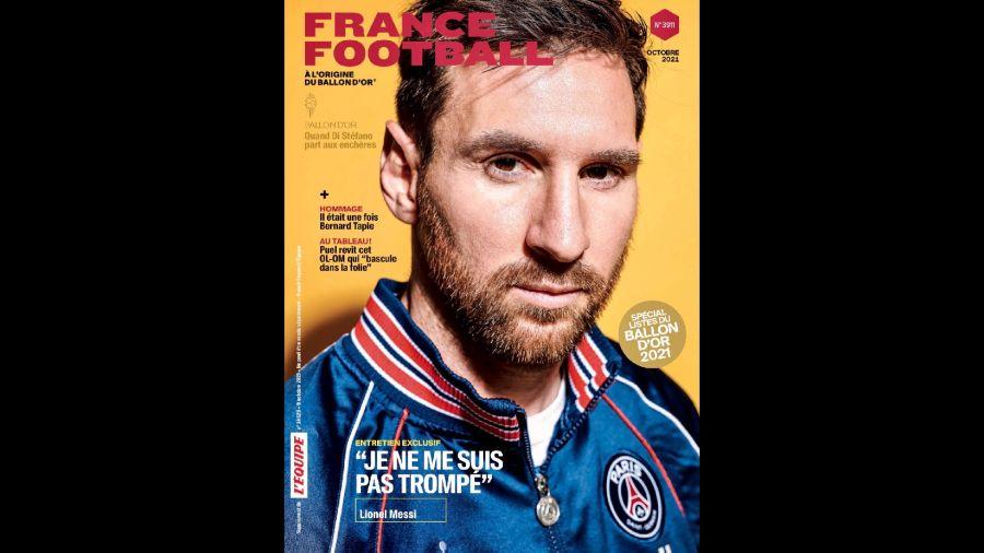 Messi tapa France Football