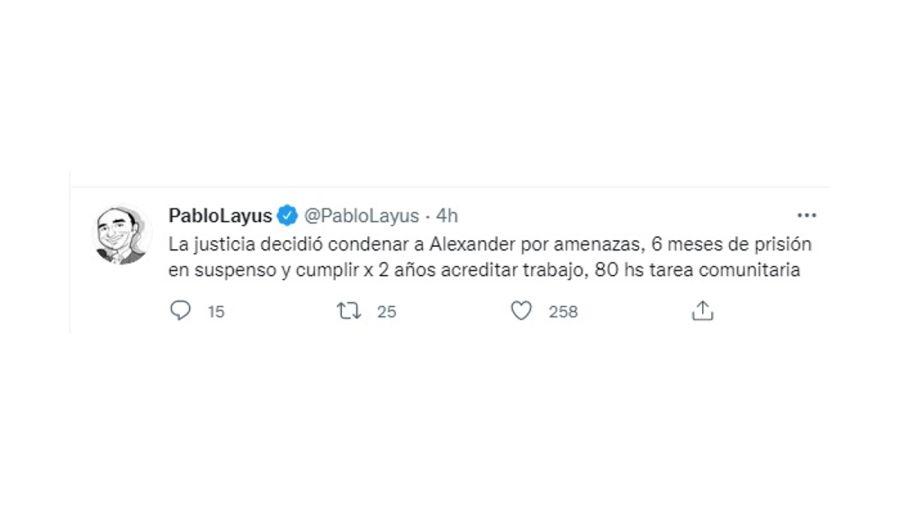 Pablo Layus Tuit alex