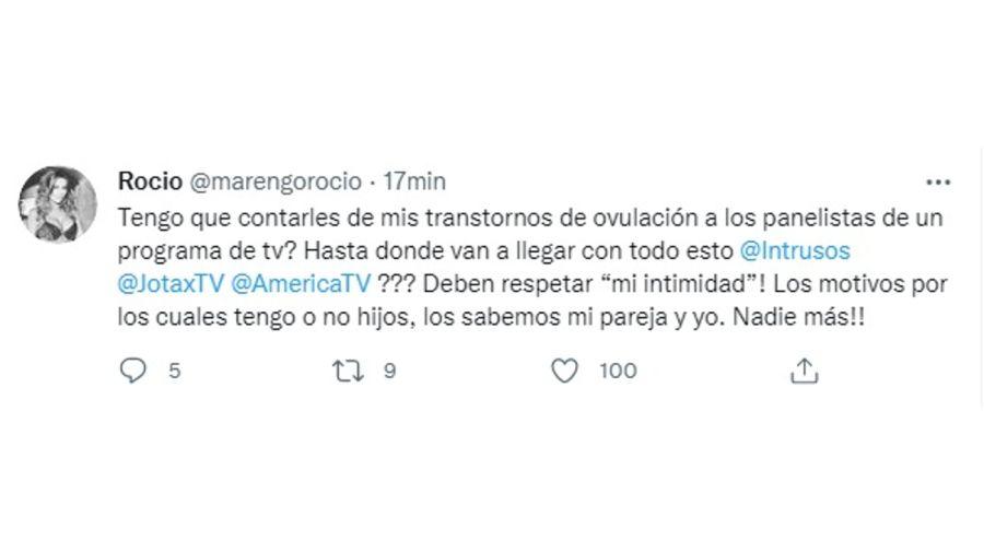 Rocío Marengo Tuit 1007