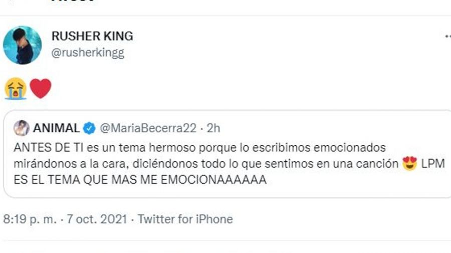 Rusher King y Maria Becerra