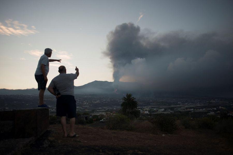 lava del volcán Cumbre Vieja