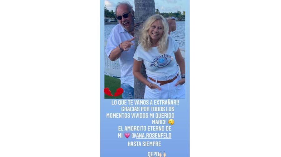 mensaje Luciana Salazar por muerte del marido de Ana Rosenfeld