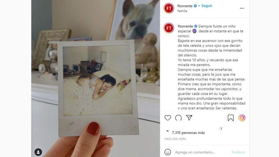 mensaje Flor Torrente a Toto Kirzner