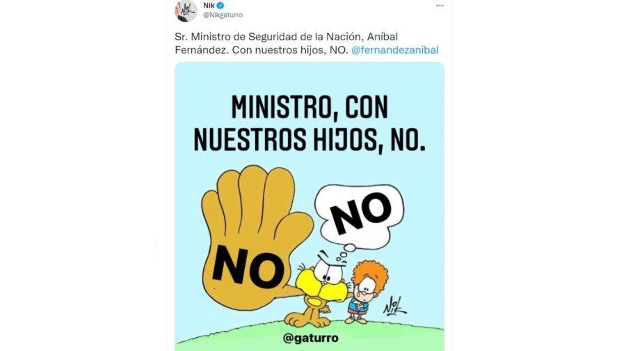 Respuesta Nik a Anibal Fernandez