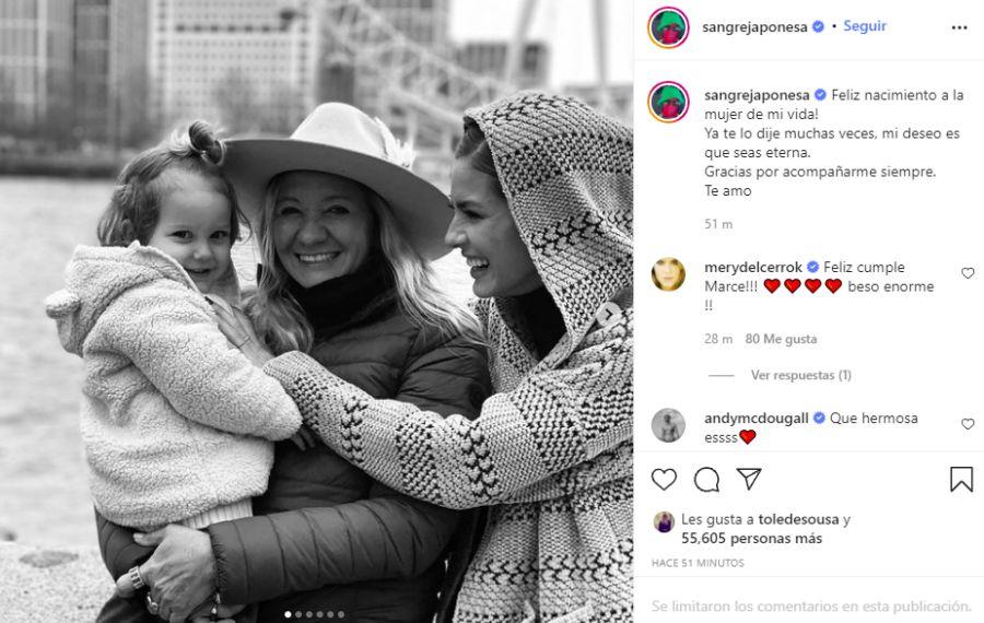 El deseo de la China Suárez a su mamá en el día de su cumpleaños