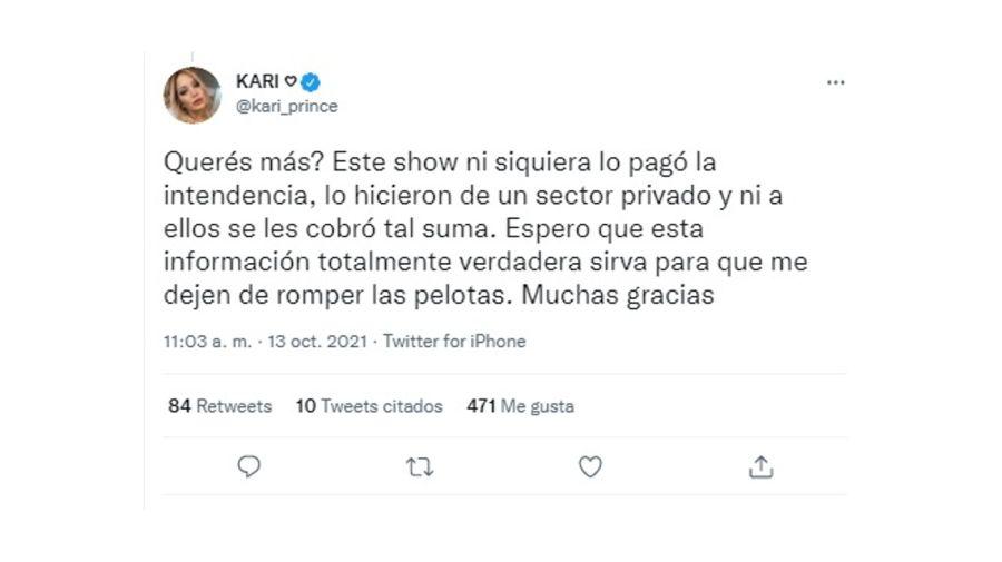 Karina La Princesita Tuit 2