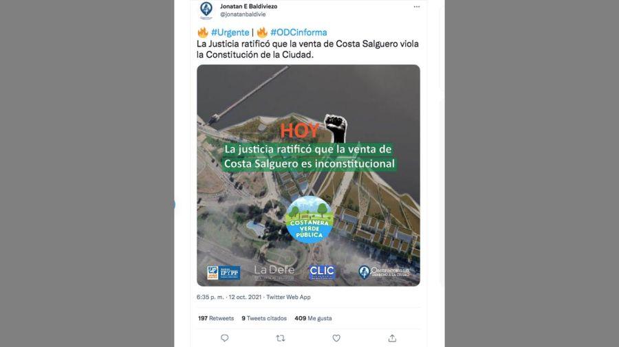Venta de Costa Salguero 20211013