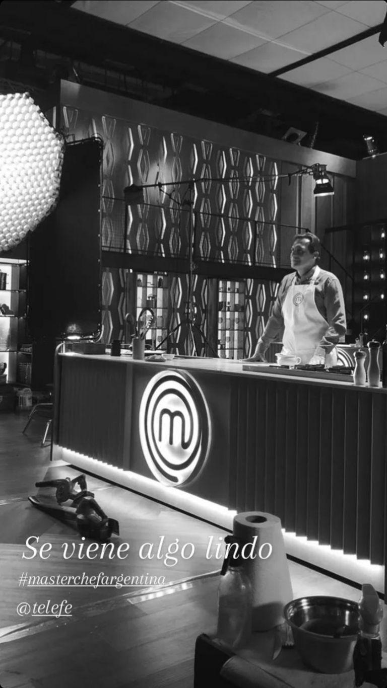 """Paulo Kablan compartió una foto en el set de """"MasterChef Celebrity 3"""""""