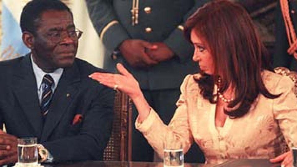 El reproche de Cristina. El dictador Obiang sigue ofuscado con nuestro país.