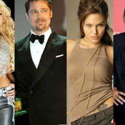 Shakira, Brad Pitt, Angelina Jolie, George Clooney