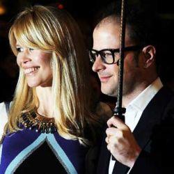 Claudia Schiffer y Matthew Vaughn (AFP)