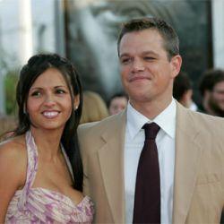 Matt Damon y Luciana Bozan
