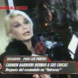Carmen Barbieri en el móvil de Intrusos