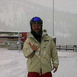 Diego Torres en la nieve