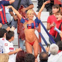 Ghidone en la tribuna de San Lorenzo