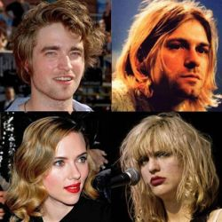 Robert Pattinson, Scarlett Johansson, Kurt Cobain y Courtney Love