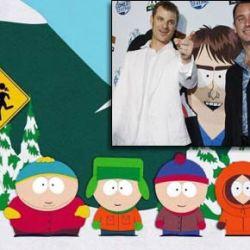 Los personajes de South Park y sus creadores, Matt Stone y Trey Parker (Semana.com)