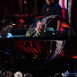 Marcelo y Federico Hoppe dentro del auto
