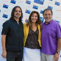"""Esteban Prol, Rubén Stella y Mónica Salvador invitaron a su obra """"Soñar en Boedo""""."""