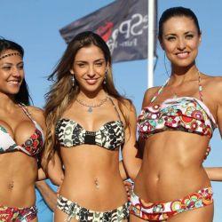 Las diosas en el desfile de Esperanto Beach