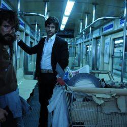 Axel y Diego en el subte