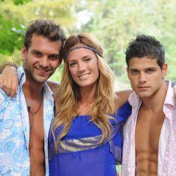 Hernán, Paula y Jonathan en la isla