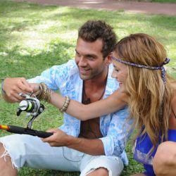 Hernán y Paula en el clip de la isla