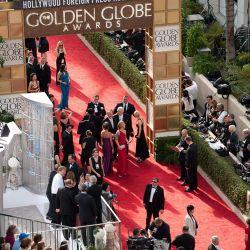 Los actores llegaron a la antesala de los Oscars. – Foto: EFE