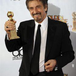 Al Pacino con su Globo de Oro – Foto: EFE