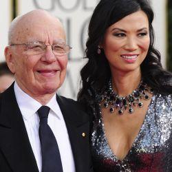 El empresario mediático Rupert Murdoch y su esposa Wendi Deng – Foto: AFP