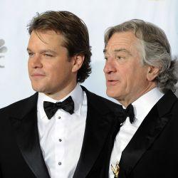 Robert De Niro y Matt Damon en la entrega de los Globos de Oro 2011 – Foto: EFE