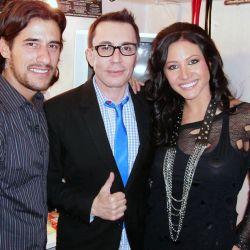 Adabel Guerrero, Martín Lamela y Marcelo Polino