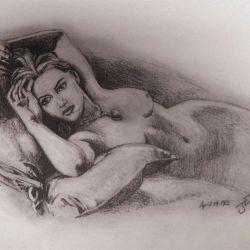 Retrato de Kate Winslet en Titanic