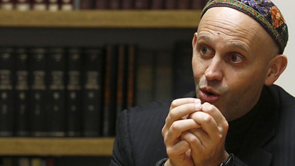 El Rabino Bergman viajó a Rosario para apoyar la candidatura de Miguel Del Sel.