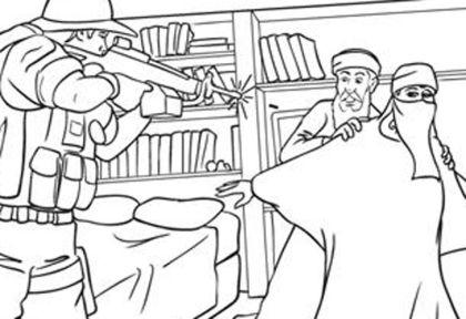Un Libro Infantil Para Colorear La Ejecución De Bin Laden