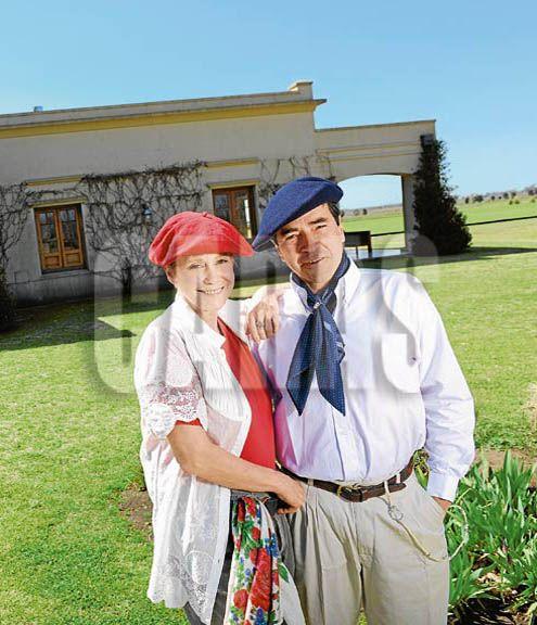 Camila Perissé y su marido