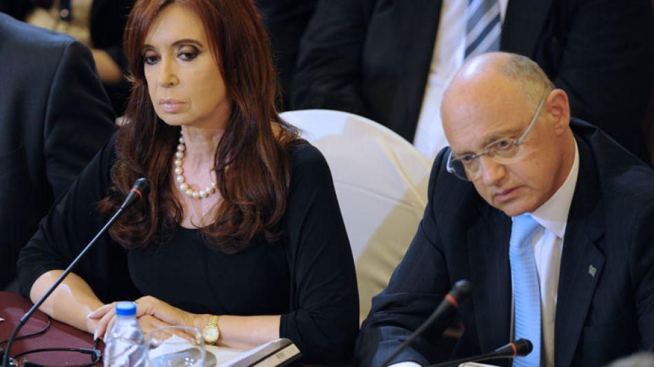 CFK junto a su canciller, Héctor Timerman.