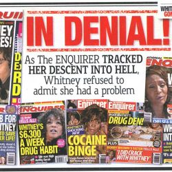 Whitney Houston en el National Enquirer